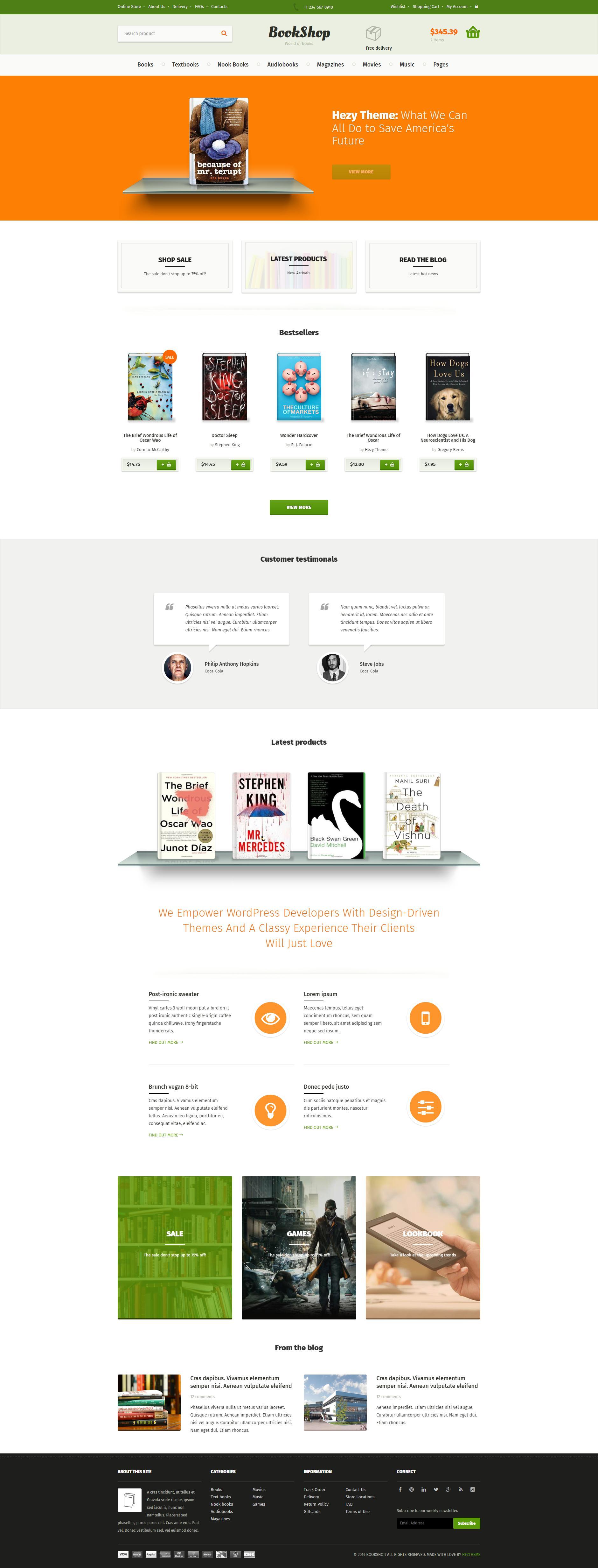 绿色的网上书店商城模板html源码