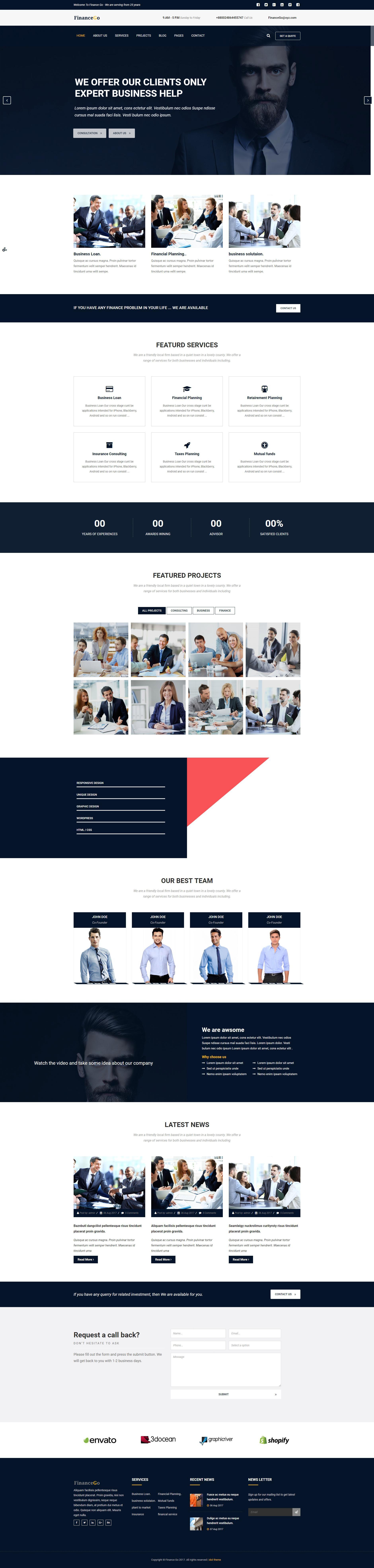 大气的商务金融咨询公司网站html模板