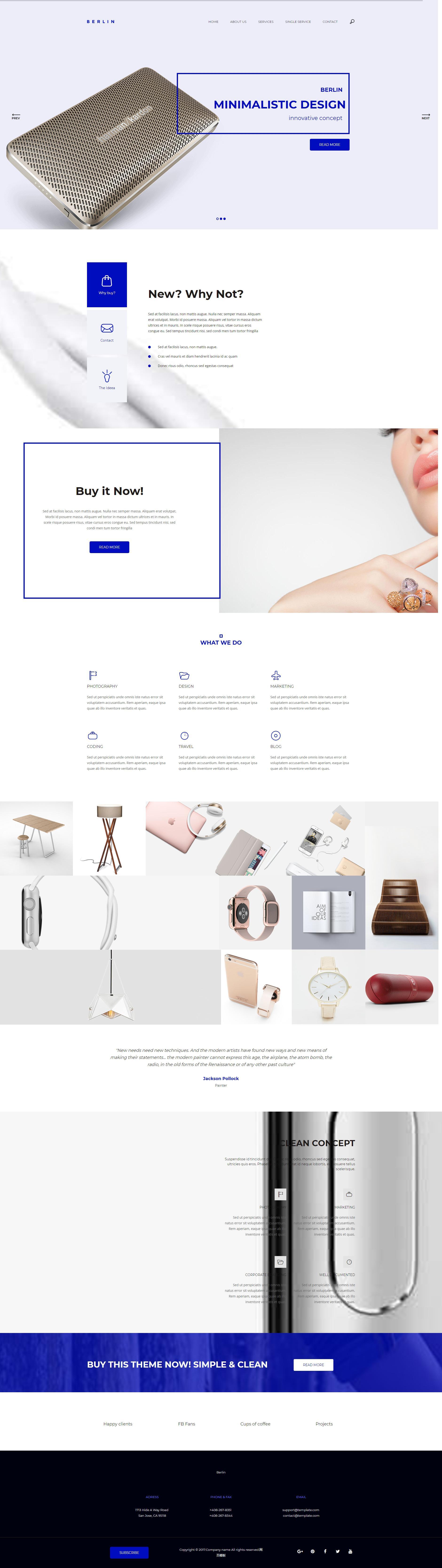 html5创意的电子产品公司网站视差模板