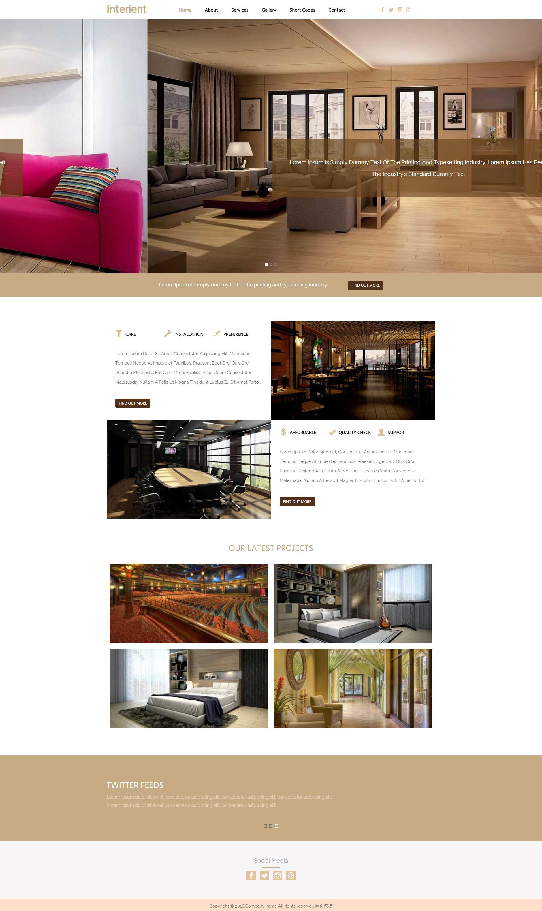 大气宽屏的室内装修设计企业网站html模板下载