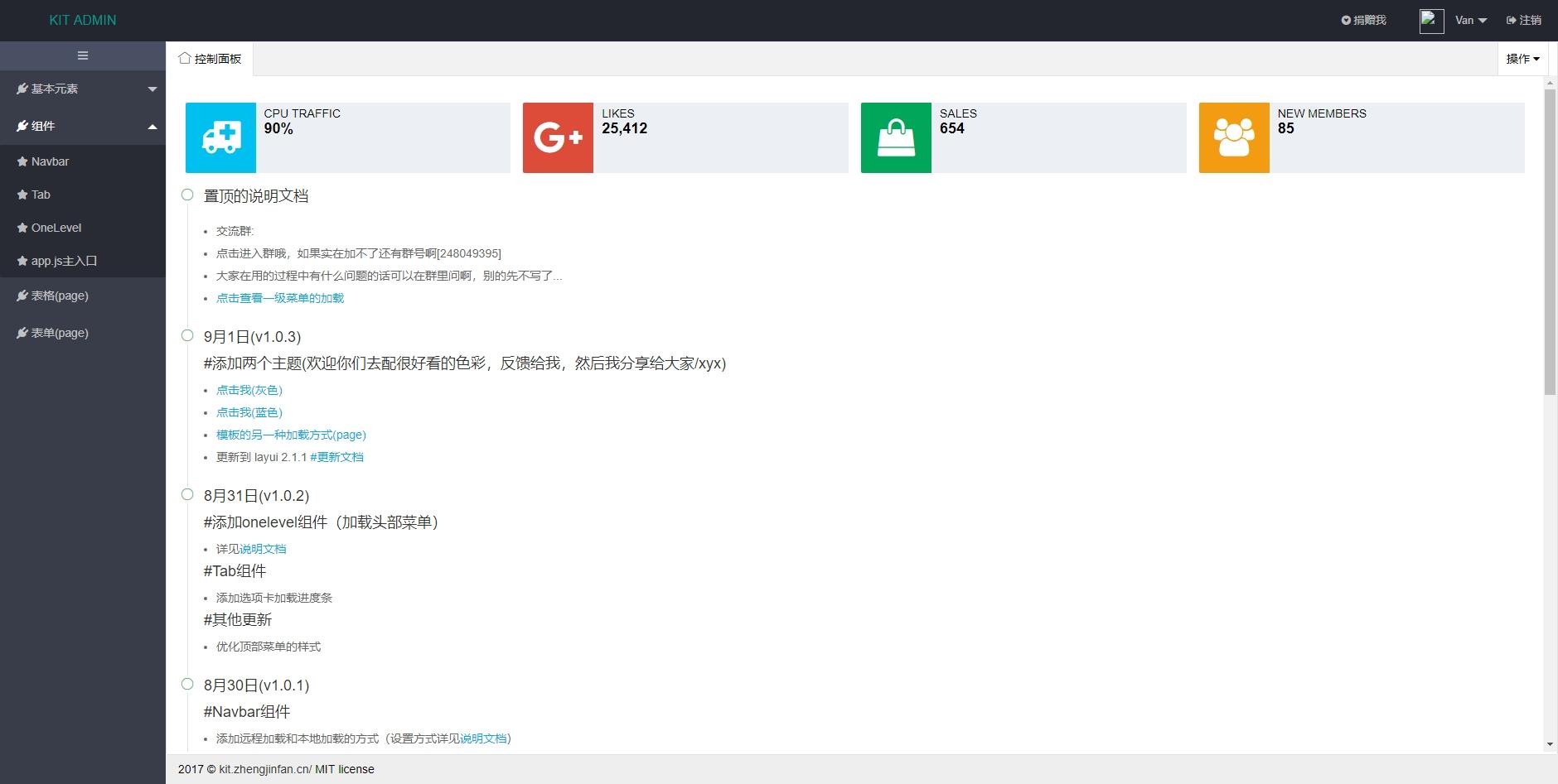 基于layui框架网站后台管理html模板源码
