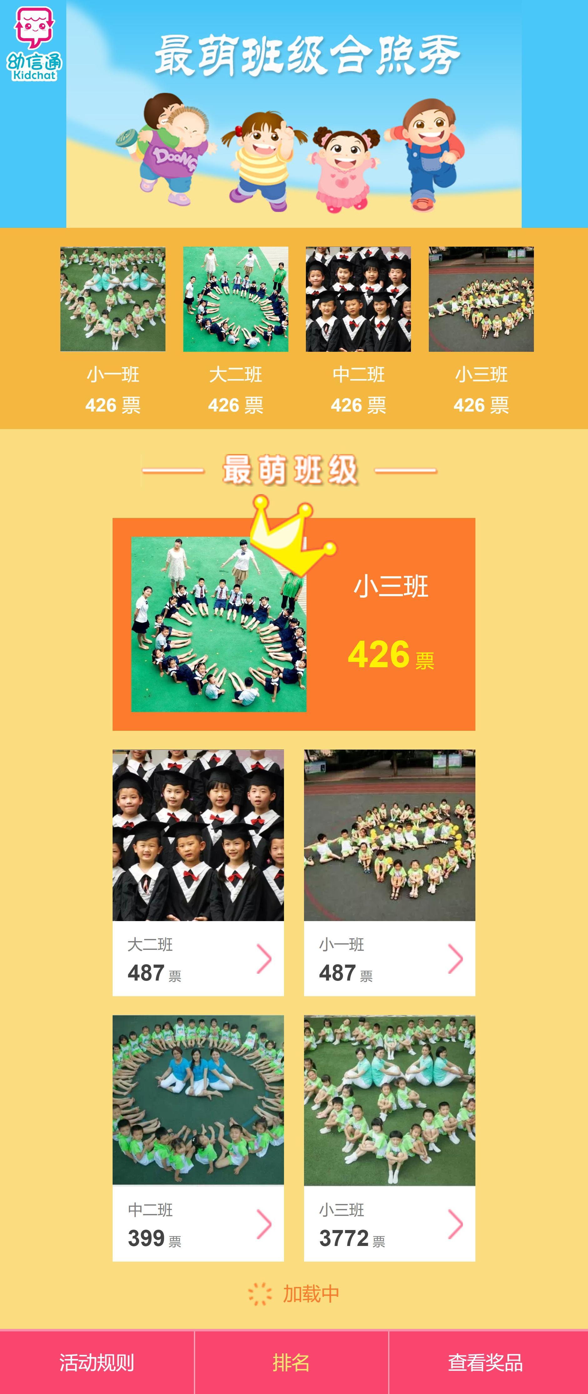 幼儿园微信投票专题活动页面模板html下载