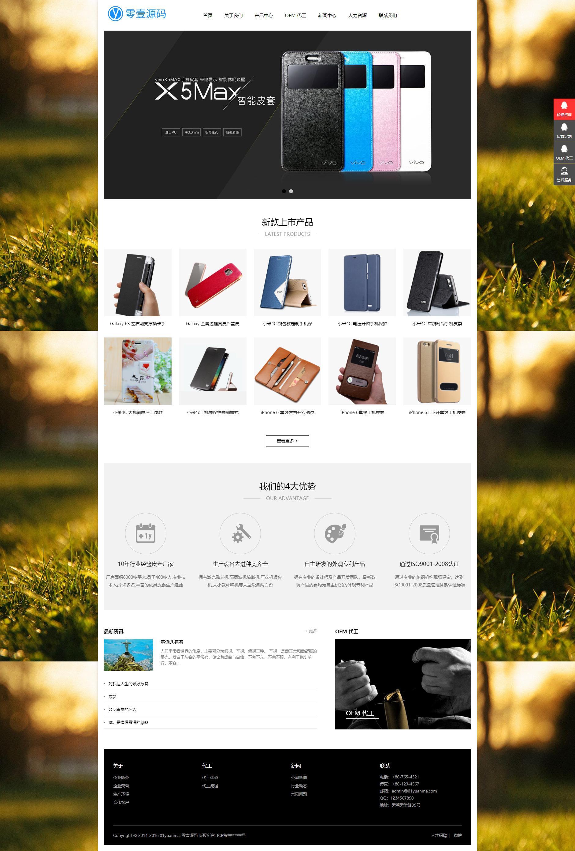 响应式手机电子配件类网站织梦dedecms模板(自适应设备)