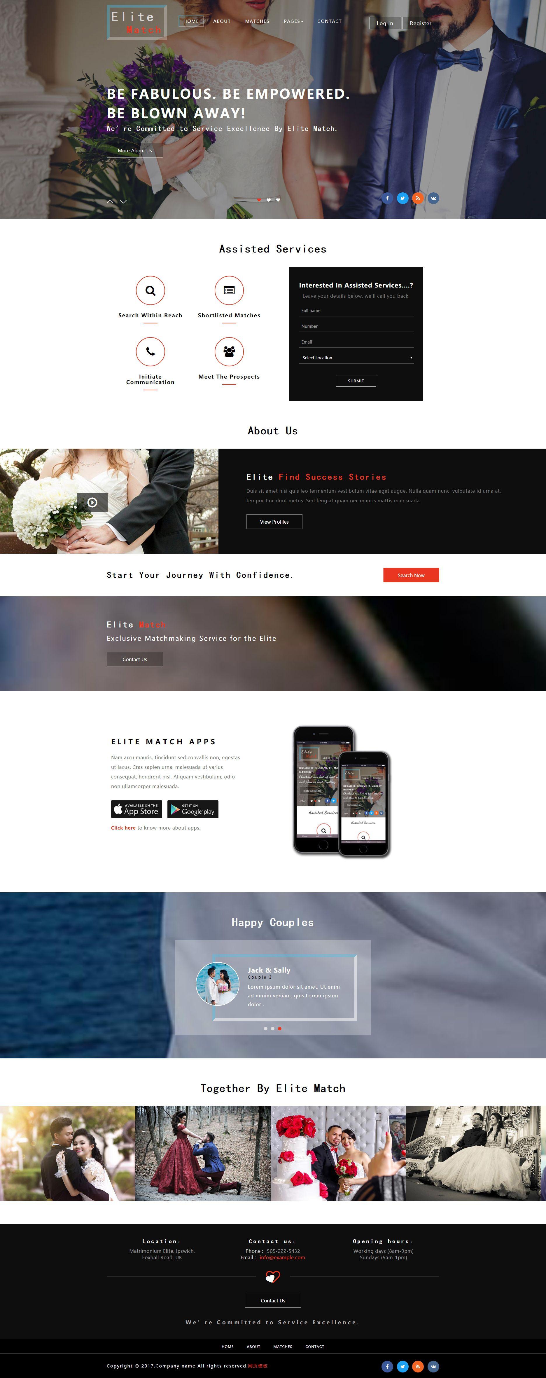 实用的婚纱摄影官网模板html下载