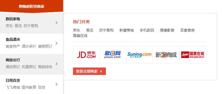 jQuery电商网站左侧商品分类导航菜单代码
