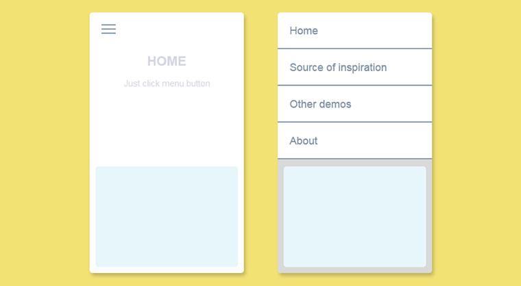 jQuery+html5点击展开菜单列表项动画特效
