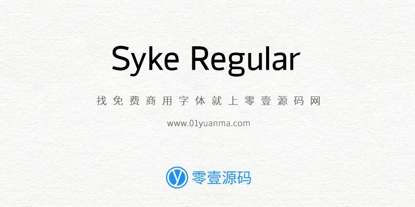 Syke Regular 免费商用字体