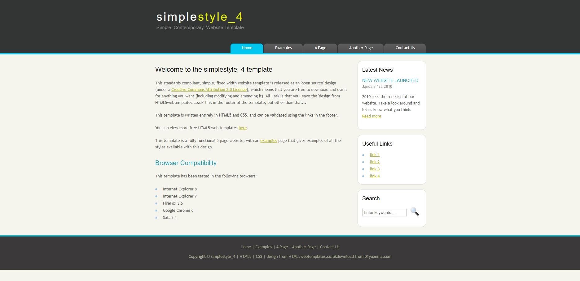 简单黑色的IT类个人博客模板html全站源码下载