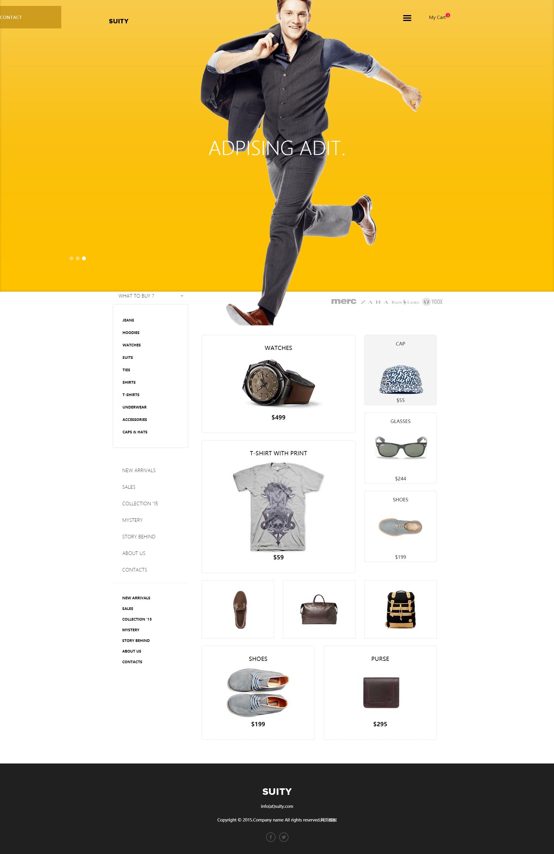 简洁大气的响应式男装购物商城网站模板html下载