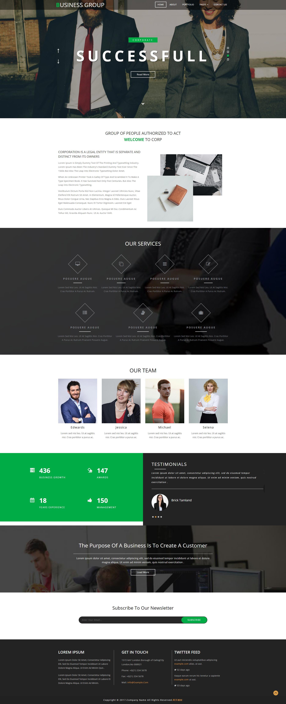 黑色宽屏的商业咨询公司网站html模板