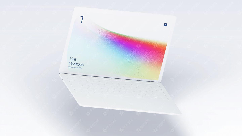 白色MacBook白模样机模型素材psd源文件