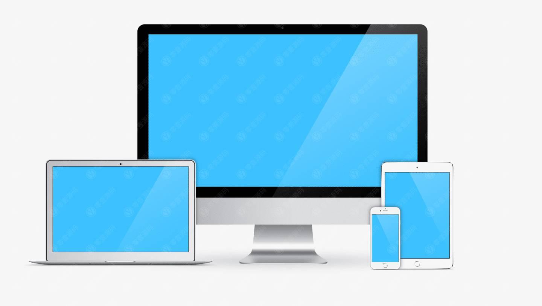 多组苹果设备组合样机模型素材psd源文件