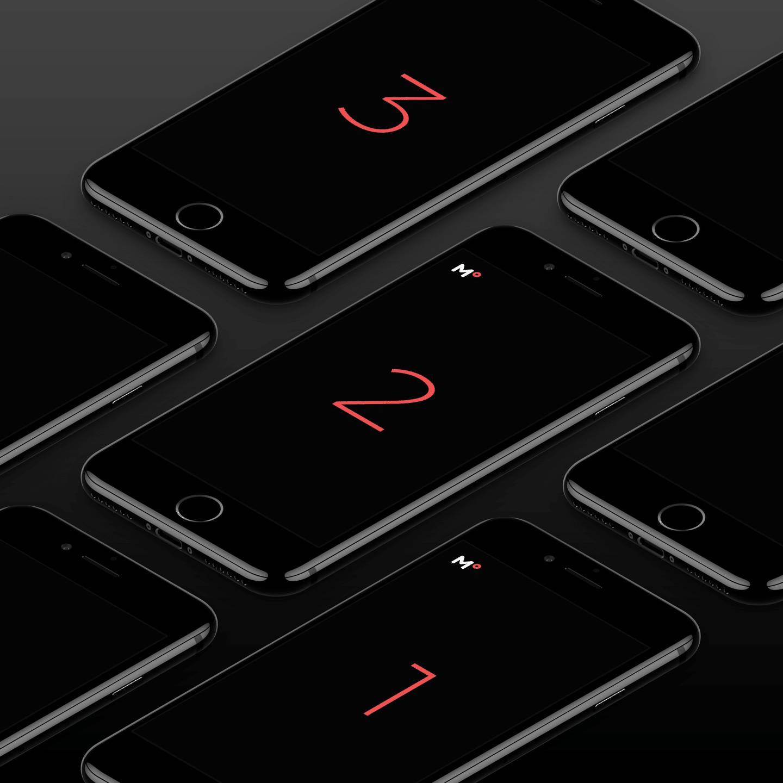 黑色iPhone组合多角度展示样机