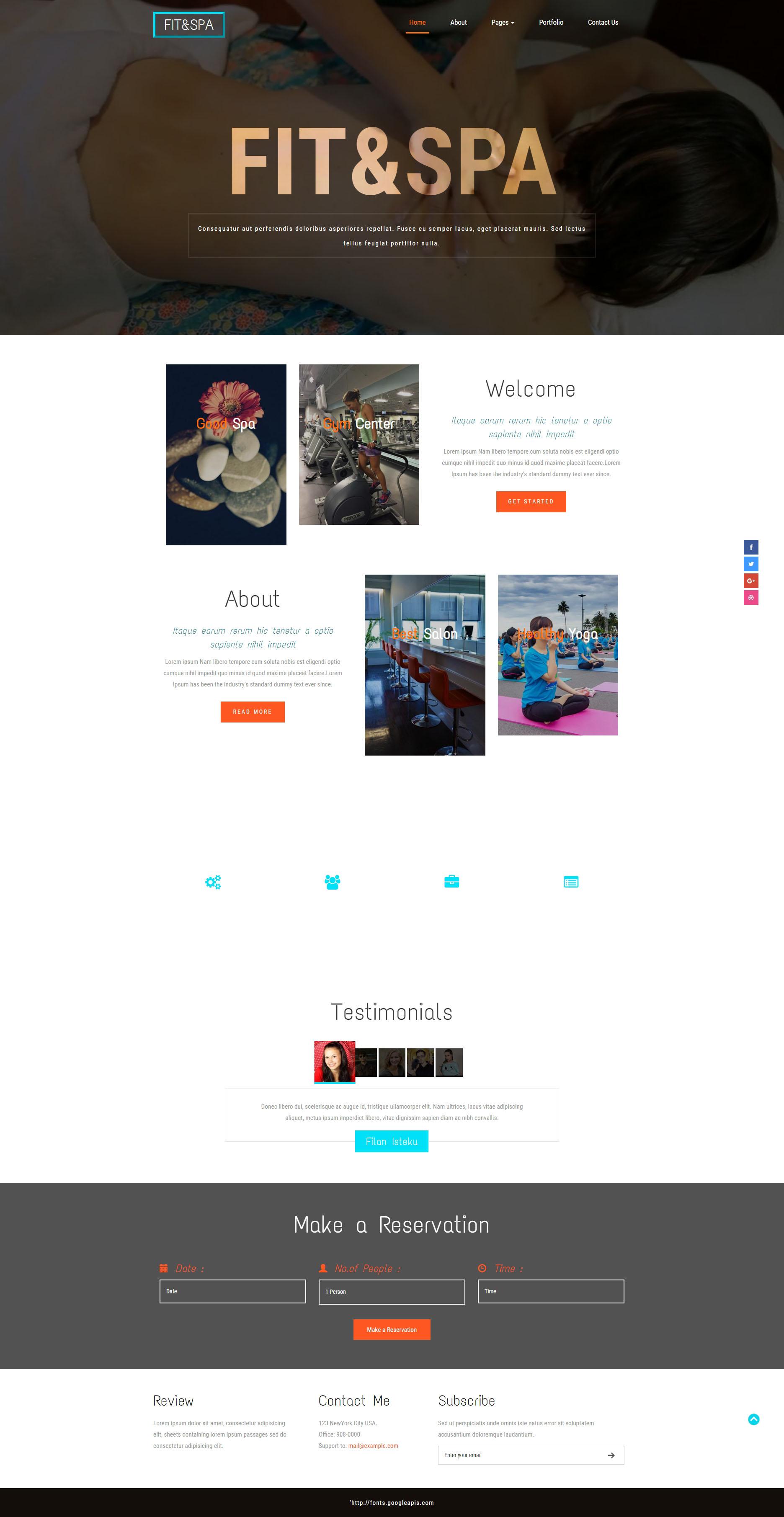 黑色简洁的健身瑜伽俱乐部网站模板html整站