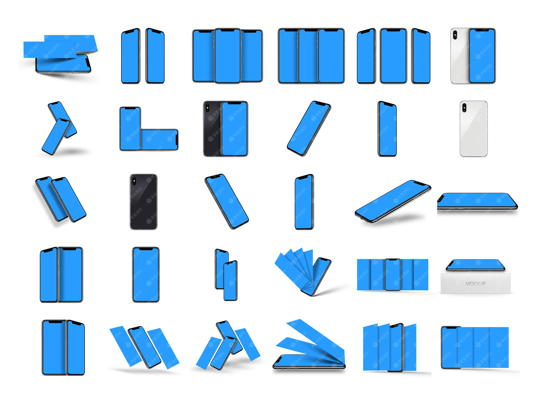 iPhone X 苹果X手机样机模型素材psd源文件