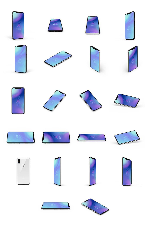 iPhoneX Mockups 苹果X手机多角度样机模型素材psd源文件