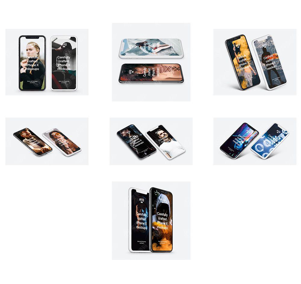iPhone x Mockups苹果X手机样机