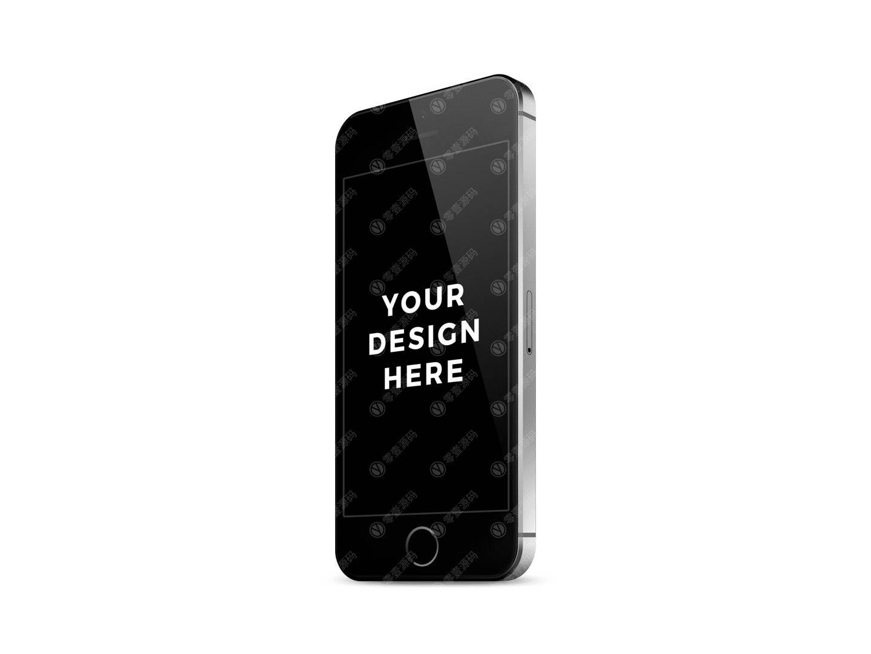 iPhone se 黑色模型样机