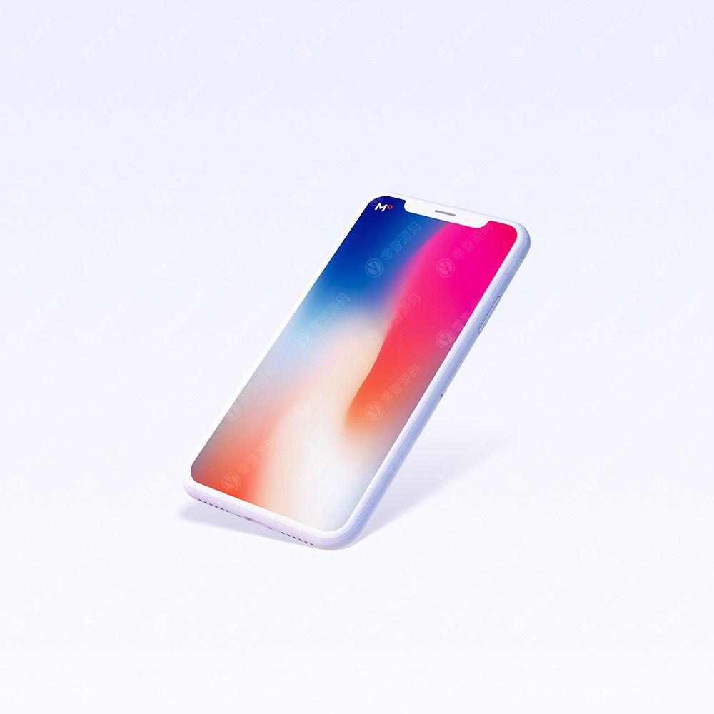 iPhoneX Mockups 苹果X手机样机双色模型下载