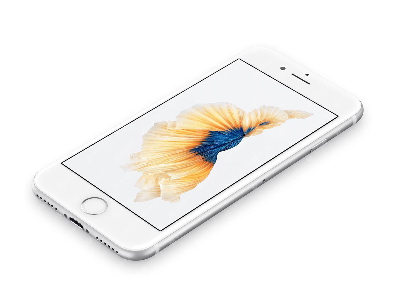 银色iPhone手机样机模型素材psd源文件