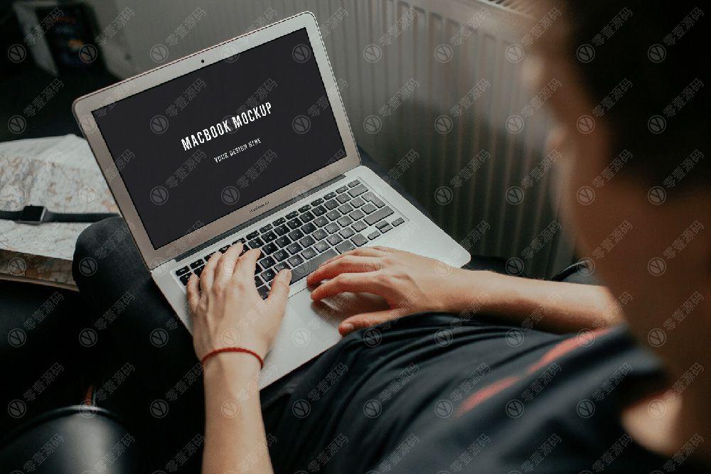 MacBook Air苹果笔记本电脑样机场景下载网页展示