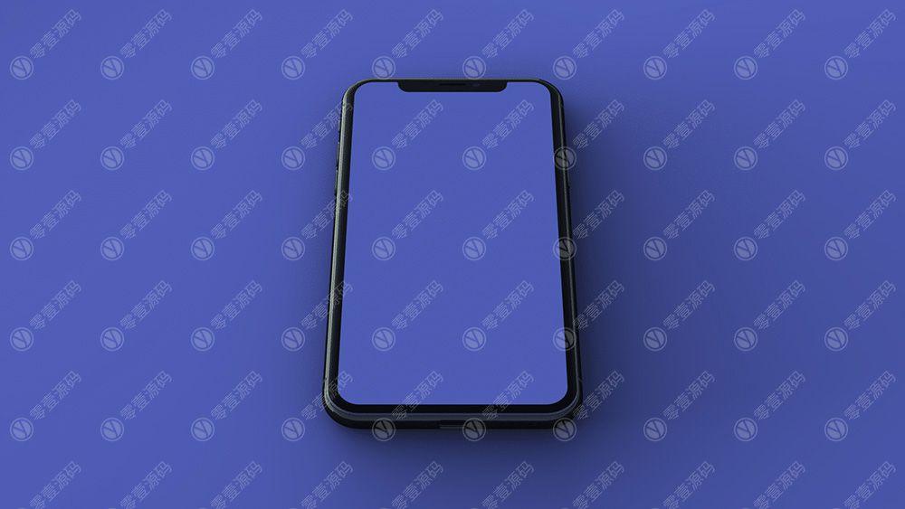 黑色iPhone x Mockups苹果X手机样机模型素材