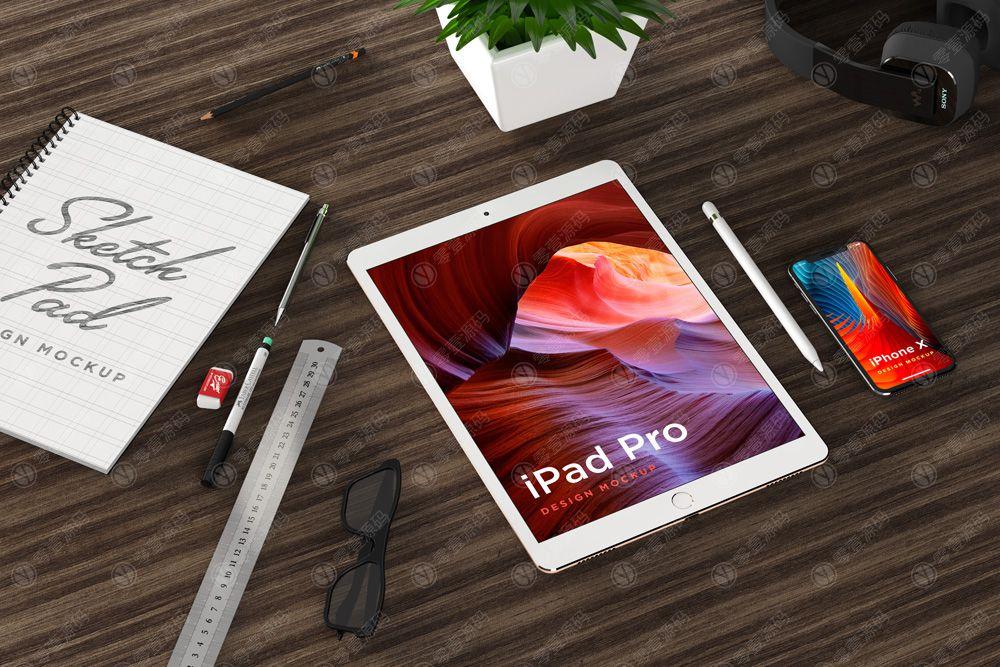 iPad Pro Mockups样机场景下载