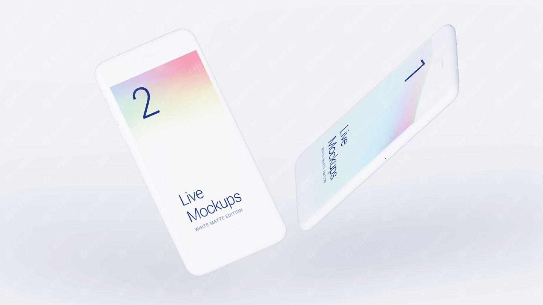 白色iPhone6样机模型素材psd源文件