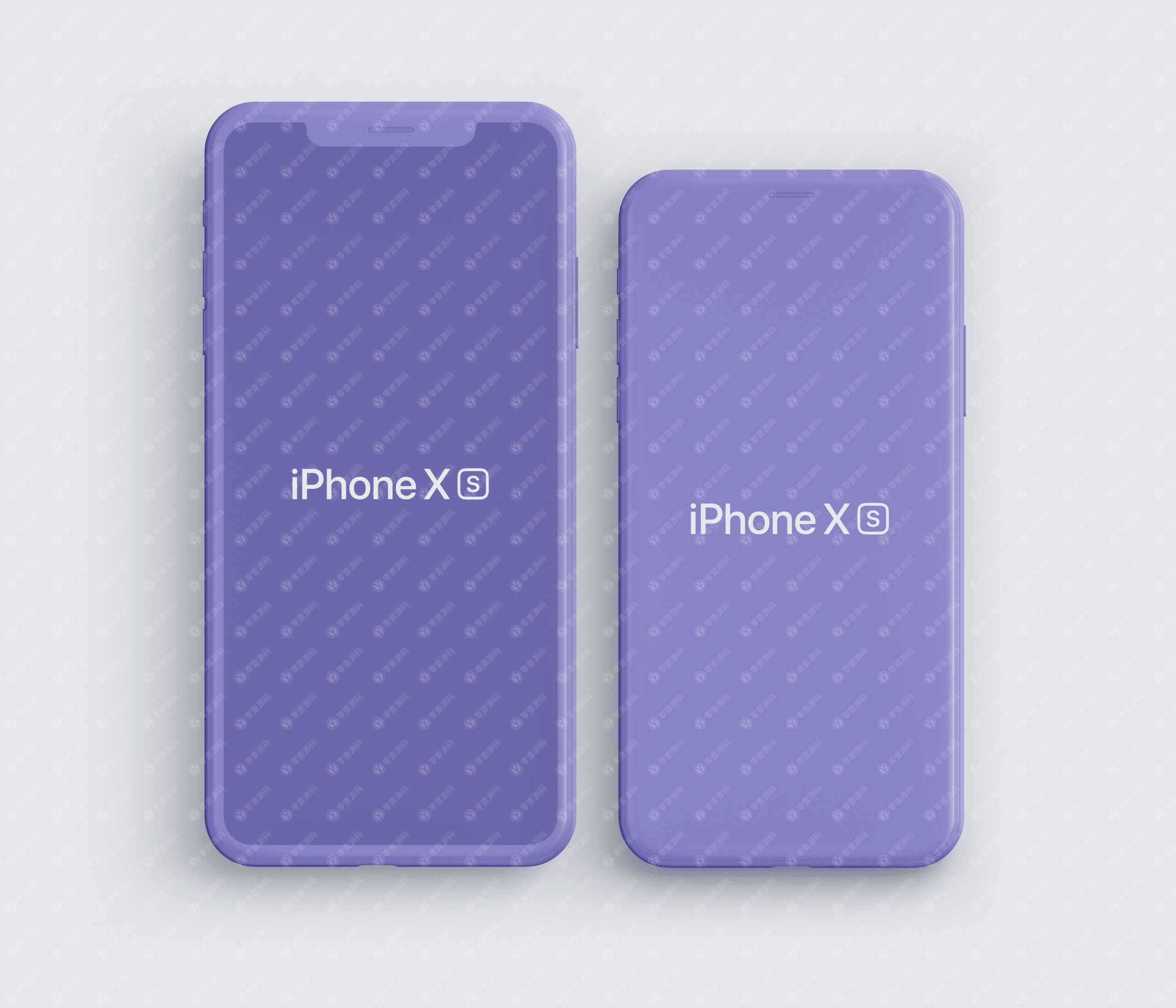 iPhoneXS Mockups 苹果XS手机样机蓝色模型PSD源文件